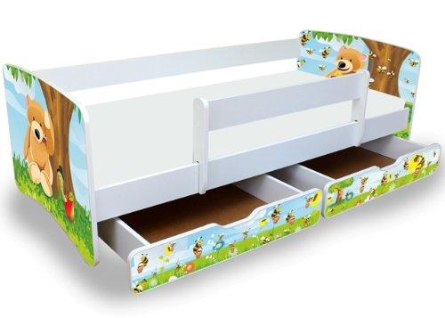 Kinderbett junge 90x200  Best For Kids Kinderbett Jugendbett 90x180 mit Rausfallschutz und ...