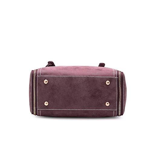 Purple Europea Pelle Bag Borsa Wdbao Americana In Secchiello Selvaggia Sandalo Moda Con A Donna Tracolla E Spalla xXHx1aIq