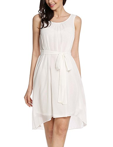 Meaneor Sleeveless Asymmetrical Cocktail Chiffon product image