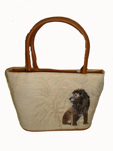 Bueno Gold Mine Handbag Satchel Bag Purse Medium Ivory Print