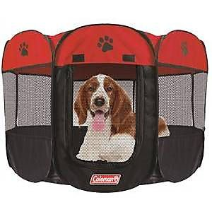 - Coleman Water Resistant Pet Playpen, Red