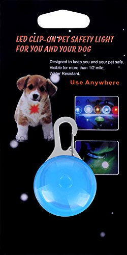 Waterproof Dog/Cat Collar Light,FZR Legend Safety Dog Collar Led Light 6 Pack Bundle (Blue + Orange + Pink + Yellow + Red + Green) Dog Lights for Night Walking | Battery Included (Pack of 6)