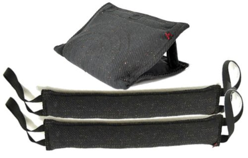 3 Handle French Linen Bite Wedge Tug Toy & 2 - 4'' X 24'' 2 Handle French Linen Tug Toys - Redline K9 by RedLine K9