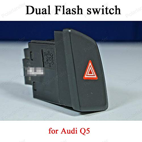 Fincos 8RD 941 509 for A-UDI Q5 Dual Flash Warning Emergency Light Switch Button