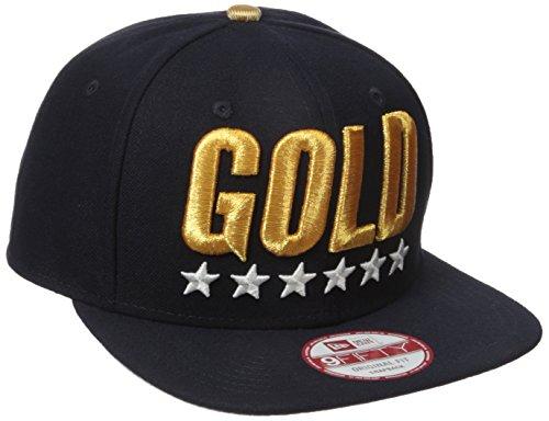 New Era Cap Men's Gold USA Snapback Hat, Blue One Size