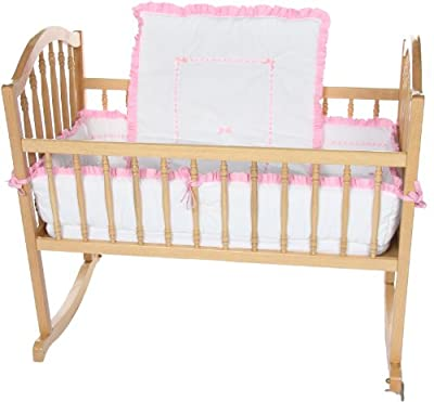 Baby Doll Unique Cradle Bedding Set Pink by Baby Doll