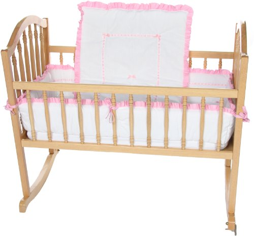 Baby Doll Bedding  Unique Cradle Bedding Set, Pink by BabyDoll Bedding