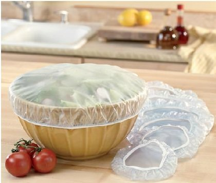 Set of 12 Reusable Elastic Bowl, Dish & Plate Covers - 3 Sizes
