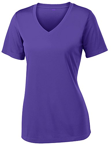 Sleek Sports Tee - Opna Women's Short Sleeve Moisture Wicking Athletic Shirt, XX-Large, Purple