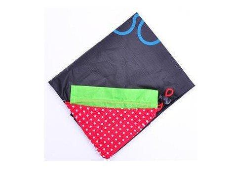 New Reusable Totes,FuzzyGreen Reusable Totes Sturdy Strawberry Environmental Protection Reusable Tote Foldable Shopping Bags - Black