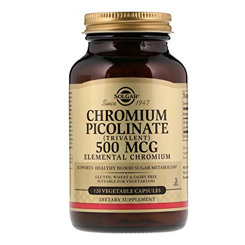 - Solgar - Chromium Picolinate 500 mcg, 120 Vegetable Capsules