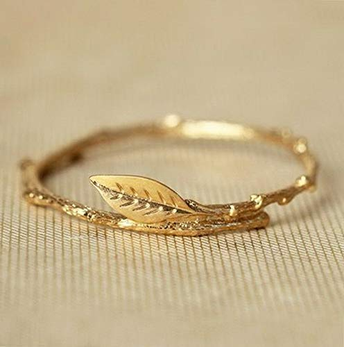 - Crookston 18k Gold Plated Women Leaf Jewelry Wedding Engagement Party Gift Ring Sz 5-10 | Model RNG - 15283 | 6