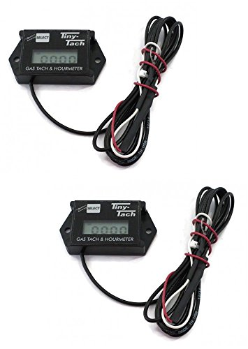 (2) Commercial TINY TACHS Hour Meter / Tachometer Service for Race Cars Racing ()