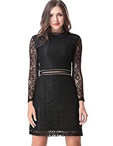 44. Aphratti Slim Fit Long Sleeve Lace Dress