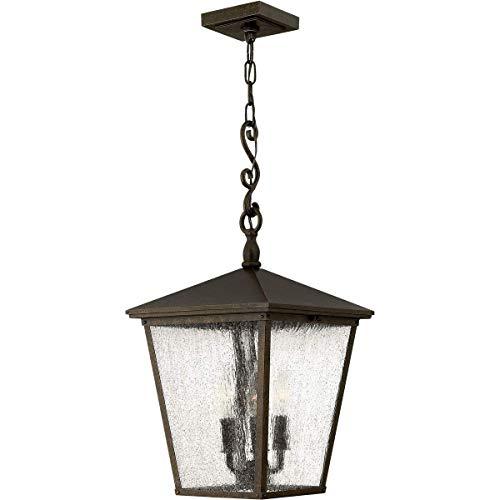 Outdoor Pendant 3 Light Fixtures with Regency Bronze Finish Aluminum Material Candelabra Bulb 11