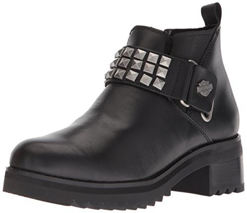 Harley-Davidson Women's Kemper Fashion Boot, Black, 9.5 Medium US