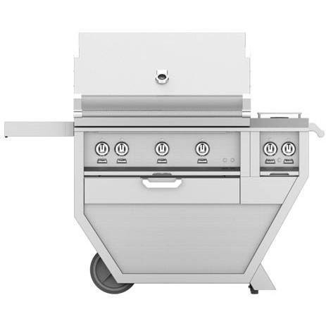 Hestan Deluxe 36-Inch Natural Gas Grill W/Sear Burner, Rotisserie & Double Side Burner – Steeletto – GMBR36CX2-NG-SS