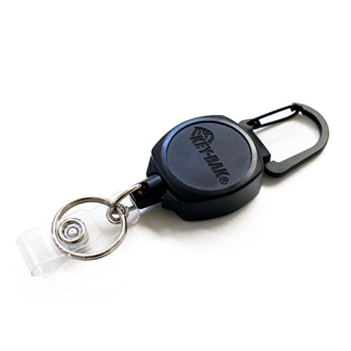 KEY-BAK Sidekick ID Badge and Key Reel, 24 inch Kevlar Cord,