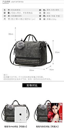 Handbag Tassel Pt3 Donalworld Rivet Leather Satchel Suede Handle Top Studded Women vvqgOYx