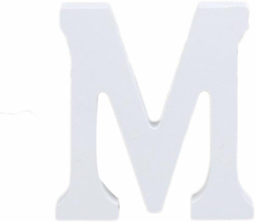 altezza 8/cm fai da te per matrimonio ufficio festa di compleanno decorazioni casa S Weimay 3D bianco lettere dell alfabeto in legno