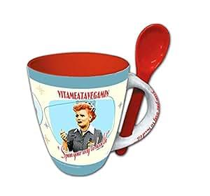 I Love Lucy Mug - 11 oz - Vitameatavegamin With spoon