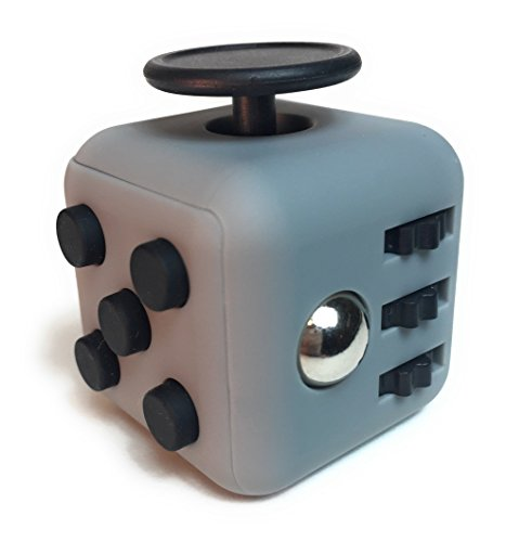 Fidget-Cube-Toy-Stress-and-Anxiety-Relief-for-Children-and-Adults-Helps-Focus-and-Concentration-Gray-and-Black-In-Gift-Box