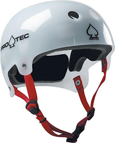 Image Unavailable. Image not available for. Color  Pro-Tec Bucky Lasek  Classic Translucent White Skate Helmet ... 3edeeb4ca7e