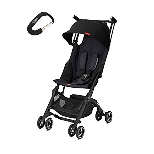 2018 GB Pockit + Plus Stroller w/Cybex Car Seat Adapter Included Travel Compact Reclines Lightweight With Baby Gear Xpo Stroller Hook