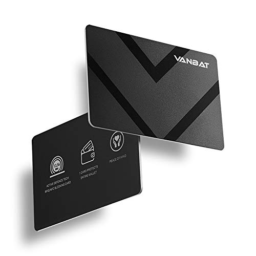 2 VANBAT RFID Blocking Card for Passport & Credit Card Protector, Easier than RFID Sleeves, Wallet Shield for Debit Bank Card NFC Blocker