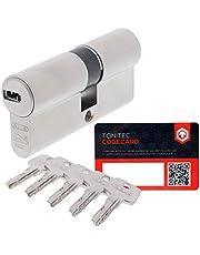 ABUS Deurcilinder slotcilinder EC550 incl. 5 sleutels incl. ToniTec CodeCard grootte 35/40mm