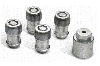 Nut Mopar - 82215711 2018 Jeep Wrangler Wheel Locks - Set of 5