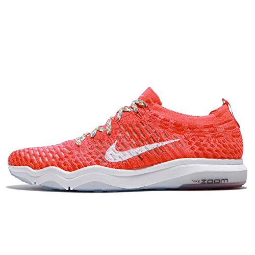 NIKE Womens Air Zoom Fearless Flyknit Running Shoes (9 B(M) US, Bright Crimson/White)