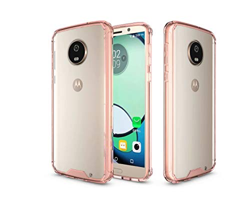 Price comparison product image Moto G6 Plus Case, Moto G6 Plus Clear Case, Designed for Motorola Moto G6 Plus Ultra Slim Crystal Clear Transparent Lightweight Scratch Resistant Premium Hybrid Protective Bumper Case Cover, Rose Gold