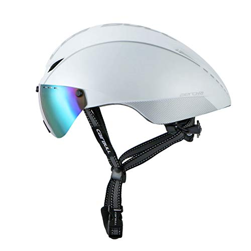 Gafas de protección TT Highway Time Trial Neumático Montar Bicicleta Casco Lente Multicolor Construcción en Molde