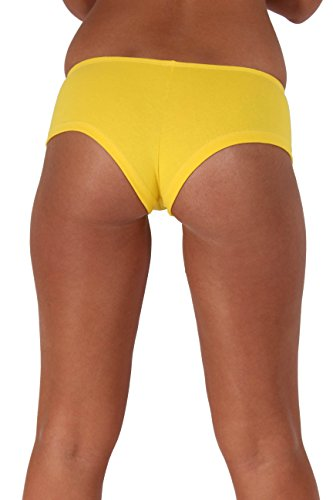 Sexy Hot Booty Shorts Basic colors Made in the USA : YELLOW LARGE ()