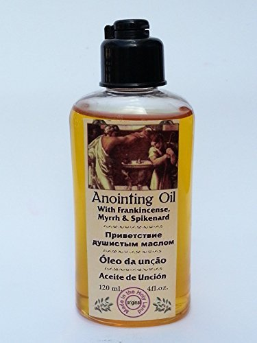 Anointing Oil with Frankincense Myrrh Spikenard Authentic Fragrance 120 Ml by Bethlehem Gifts TM