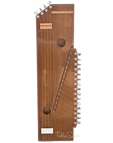 MKS Sur Tanpura (Swarmandal+Tanpura 2 in 1) - Buy 4 Strings - 36 Inches - Natural - Tun Wood (PDI-DIC) by MKS