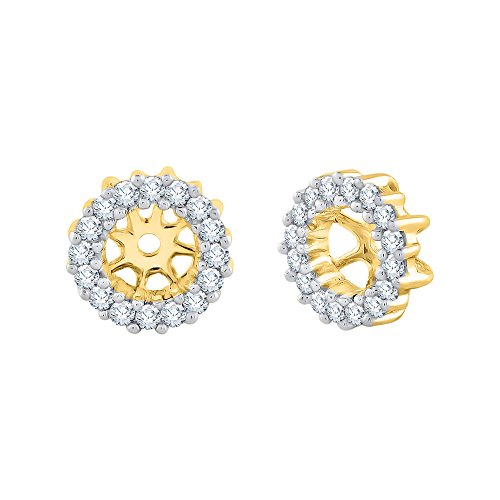 Diamond Earring Jackets in 10K Yellow Gold (1/4 cttw, J-K, I1-I2)