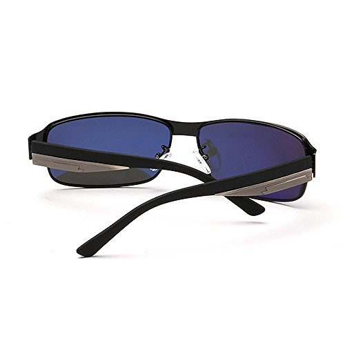 bordeadas de simples los Protección de de Gafas UV Novedad conducción polarizadas metal deportivas para béisbol Ciclis Gafas sol Gafas hombres Marco de sol diseñador clásicos tonos de sol de Negro de correr qw7avR