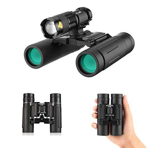 oculars Telescope with Night Vision,Large Eyepiece High Power Waterproof Binocular for Adults and Kids Easy Focus for Travelling, Sightseeing,Hunting, etc. ()