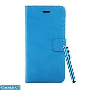 Caseland Iphone 6 Plus 5.5 Inch Case Wallet Case Stand Leather Flip High Quality Elegant Case For Iphone 6 Plus 5.5 Inch Blue