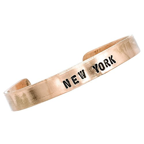 Copper Bracelet, Chic Gift Box, Production for Any Size, Custom Jewelry, Mantra Bracelets, Cuff, Worldwide Free Shipment, 2 Days Delivery, Statement Piece, New York, Customize As You Like