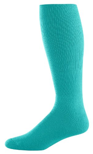 Athletic Socks - Youth Size 7-9, Color: Teal, Size: 7 - 9 by Augusta Sportswear