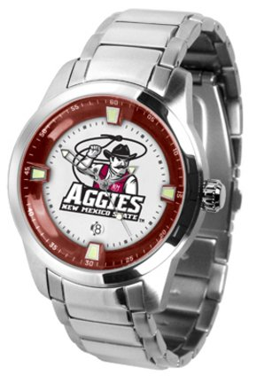 (SunTime New Mexico State Aggies Titan Steel Watch)