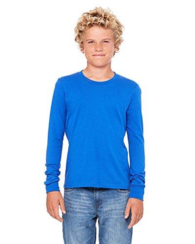 (Bella + Canvas Men's Jersey Long-Sleeve T-Shirt, Medium, TRUE ROYAL)