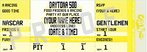 Daytona 500 Tickets (Daytona 500 Ticket Invitation (Yellow))