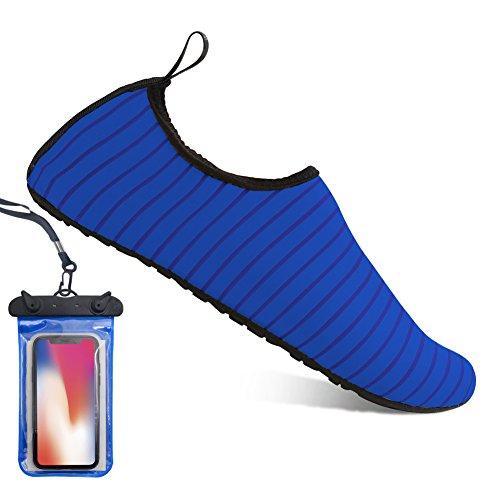 Chaussures Aqua Blue de de Chaussure Chaussures Yoga Aquatique Peau Bain Pilate tv0nqaO