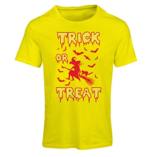 Homemade Halloween Costumes Black Corset (T shirts for women Trick or Treat - Halloween Witch - Party outfites - Scary costume (XX-Large Yellow Multi Color))