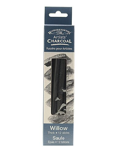 Winsor & Newton Artists' Charcoal willow thick box of 12 [PACK OF 2 ] by Winsor & Newton