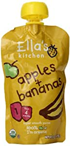 Ella's Kitchen Organic Baby Food Apples Plus Bananas (4 Plus Months), 3.5 Ounce Pouches (Pack of 7)